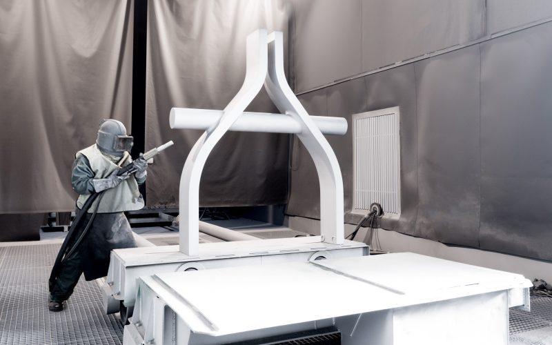 Sandstrahlen Normalstrahl für C-Stahl