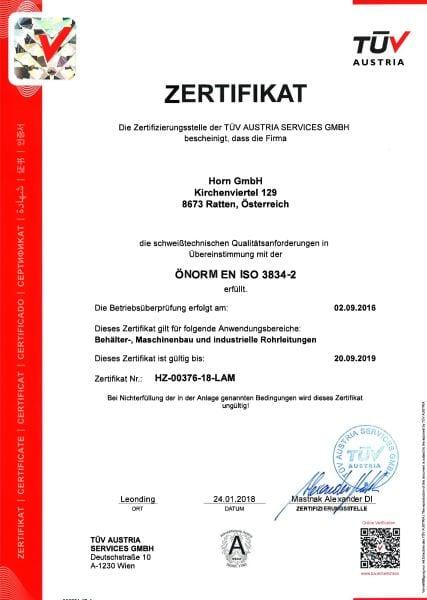 EN ISO 3834-2-D
