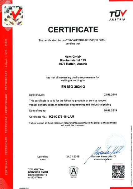 EN ISO 3834-2-E