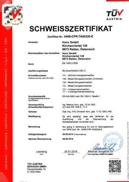 ISO EN1090-1D